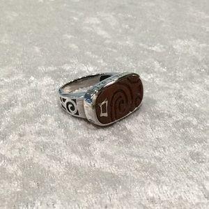 Silpada Sterling Inscribed Ring